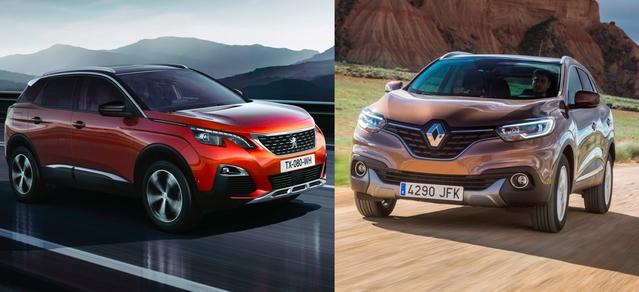 Match du Mondial 2016: nouveau Peugeot 3008 vs Renault Kadjar