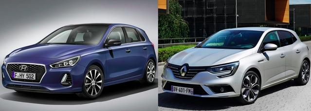 Match du Mondial 2016 - Nouvelle Hyundai i30 vs Renault Mégane
