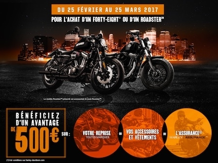 Harley-Davidson : 500 euros d'avantage sur les Roadster et Forty-Eight