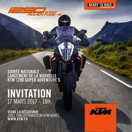 KTM présentera sa 1290 Super Adventure S le 17 mars 2017