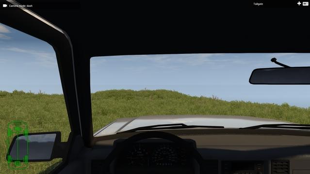 Jusqu'ici tout va bien, dans un pick-up, de la verdure devant moi mais... on ne voit pas très loin non ?