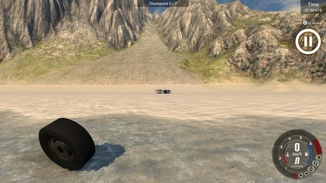 Allez sur la plage qu'ils disaient, c'est bon là ? Le pneu est allé assez loin ?
