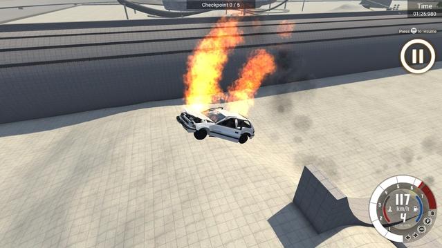 Forcément elle allait moins vite, la trajectoire ressemble à un caillou, mais les flammes plaisent aux juges