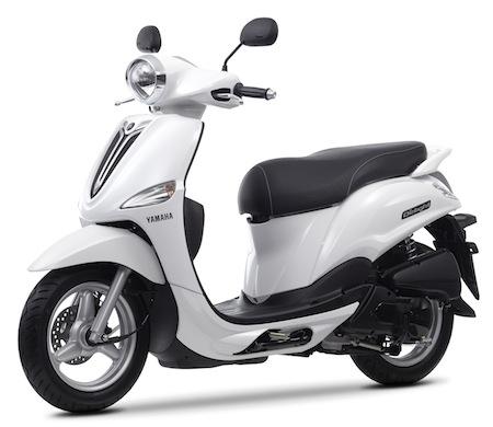 Le Yamaha 125 D'elight en approche