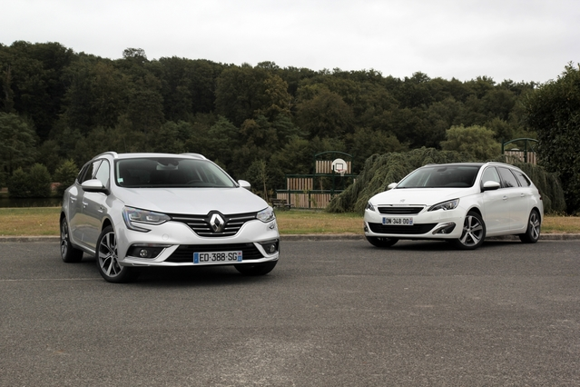 Comparatif vidéo - Renault Mégane 4 Estate vs Peugeot 308 SW : french connection