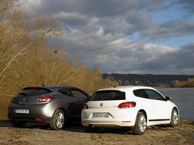 Comparatif Volkswagen Scirocco/Renault Mégane Coupé