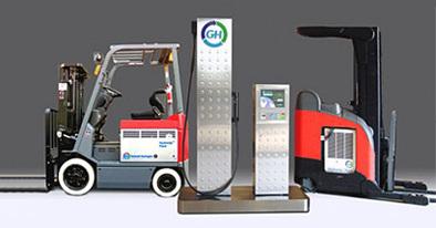 Des chariots-élévateurs carburant à l'hydrogène