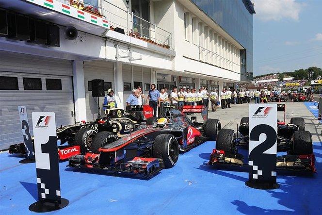 F1 GP de Hongrie : Lewis Hamilton résiste aux 2 pilotes Lotus