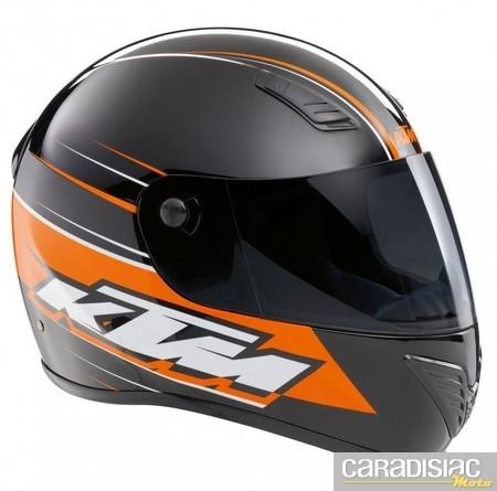 KTM jusqu'au bout du casque : l'intégral Street Evo X.