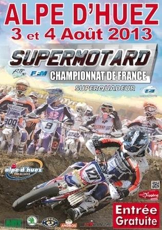 Supermotard, championnat de France 2013, round 4 l'Alpe d'Huez: un sans faute pour Bidart