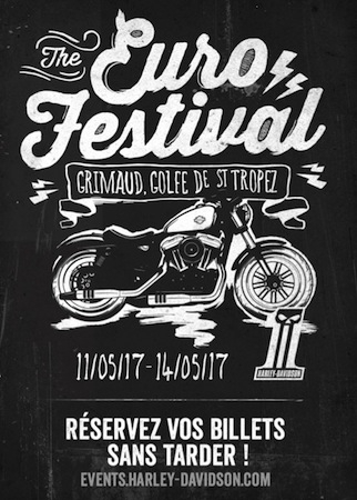 Harley-Davidson Euro Festival 2017: du 11 au 14 mai à Grimaud