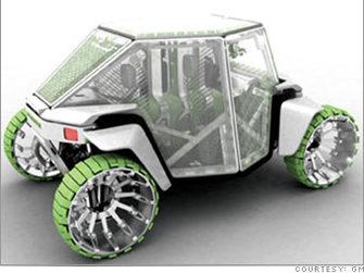 Visions de voitures vertes