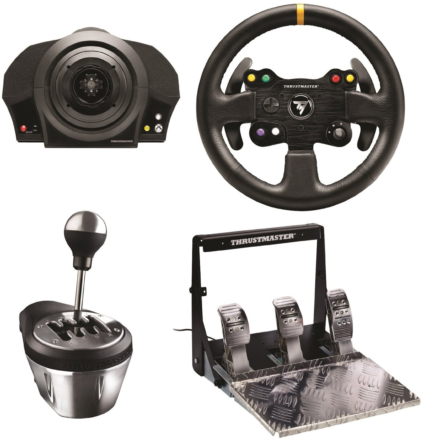 test du thrustmaster tx racing wheel leather edition sur xbox one et pc tous ses accessoires. Black Bedroom Furniture Sets. Home Design Ideas