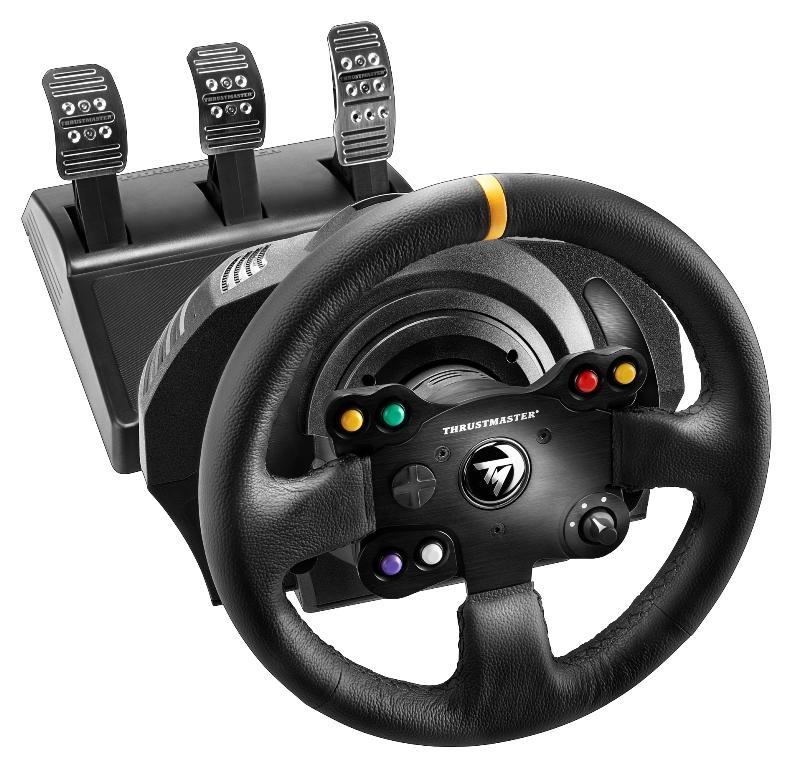 test du thrustmaster tx racing wheel leather edition sur xbox one et pc tous ses accessoires. Black Bedroom Furniture Sets. Home Design Ideas