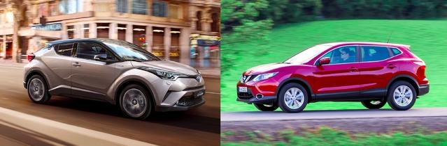 Match du Mondial 2016 - Toyota C-HR vs Nissan Qashqai
