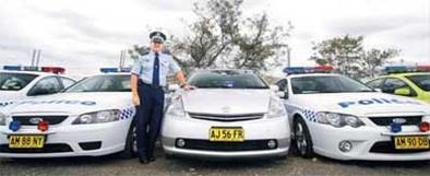 La police australienne s'équipe de Toyota Prius
