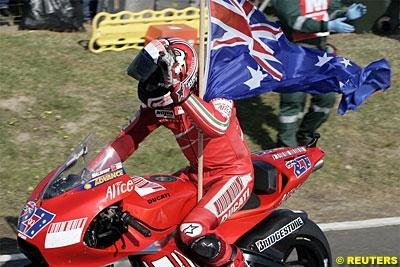 Moto GP - Australie Podium : 1. Stoner