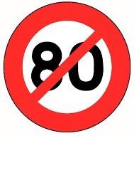 Sécurité routière: rouler à 80km/h ralentit la baisse de la moralité.