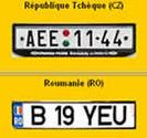 Le site français des plaques  d'immatriculation