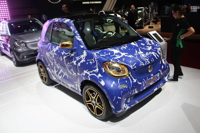 Smart Fortwo All Gone Ed Banger : hipster - En direct du Mondial de l'auto 2016