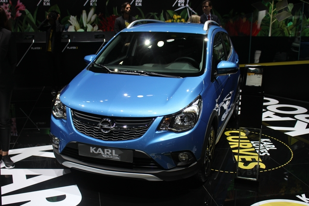 Opel Karl Rocks : baroudoudeuse - En direct du Mondial de l'auto 2016