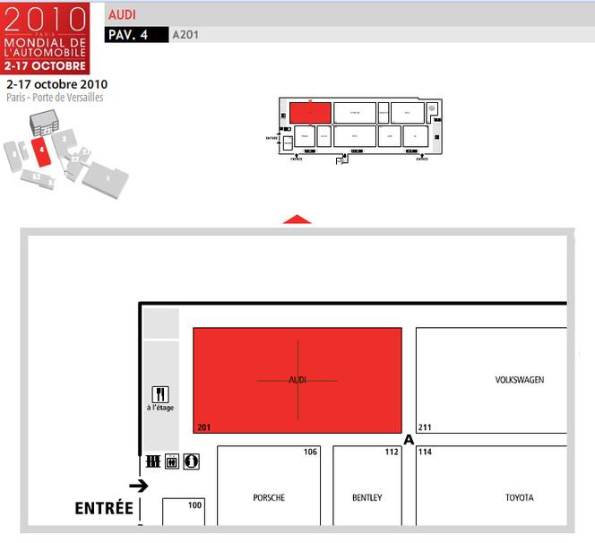 Guide des stands 2010 : Audi étoffe