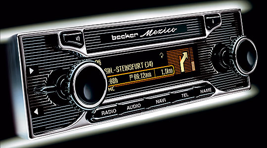 becker classic mexico autoradio moderne pour voiture ancienne. Black Bedroom Furniture Sets. Home Design Ideas