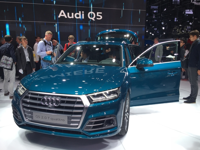 Première vidéo de l'Audi Q5 : découvrez les premières images live en direct du Mondial de l'auto 2016