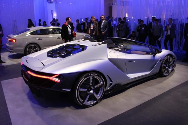 La version découvrable de la Lamborghini Centenario.