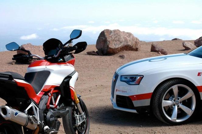 Audi et Ducati ensemble à Pikes Peak