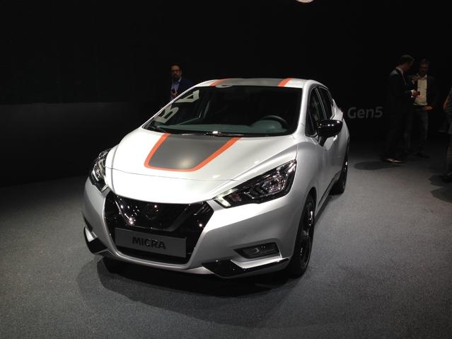 Première vidéo de la Nissan Micra 5 : découvrez les premières images live en direct du Mondial de l'auto 2016