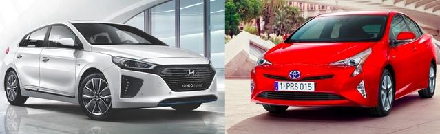 Match du Mondial 2016 - Hyundai Ioniq vs Toyota Prius