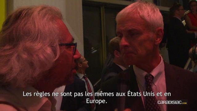 Un brin laconique, M. Mathias Müller justifie par le droit la différence de traitement entre les automobilistes américains et européens.