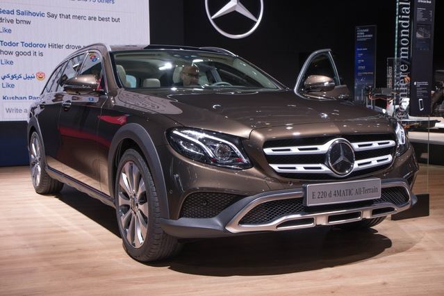 Mercedes Classe E All-Terrain : volume premium - En direct du Mondial de Paris 2016
