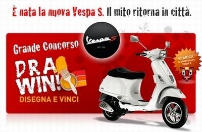 Imaginez et gagnez une Vespa S!