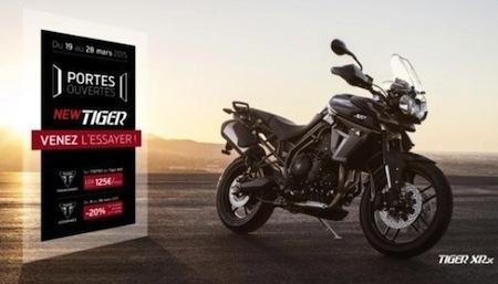 Triumph: offres sur la gamme Tiger 800 et Triumph Travel