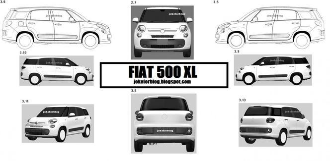 Mondial de Paris 2012 - La nouvelle Fiat 500 XL y serait