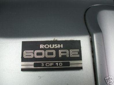 Roush 600RE : 10 - 1 = 9