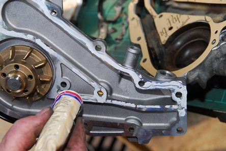 When it is driven by the timing belt, it is a good idea to replace the water pump at the same time as this one.