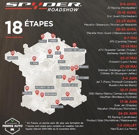 Spyder Roadshow: la gamme Can-Am Spyder en essai en 18 dates