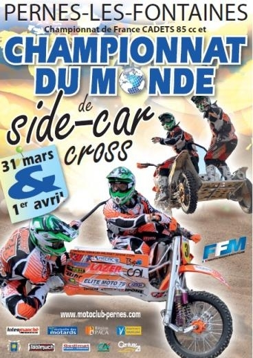 Side-car cross mondial à Pernes les Fontaines, 31 mars et 1er avril
