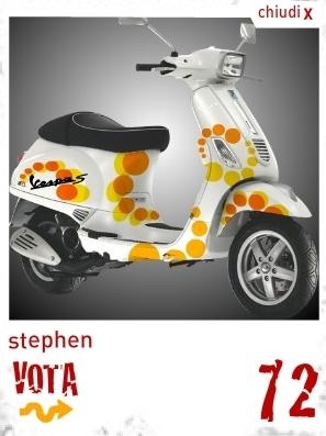 La Vespa S est décorée, maintenant il faut voter