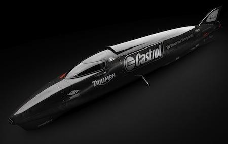 Record de vitesse : la Triumph Castrol Rocket vise les 400 miles/ heure (vidéo)