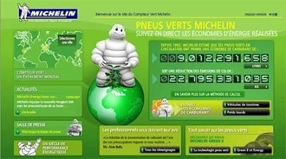 Michelin promotionne ses pneus verts