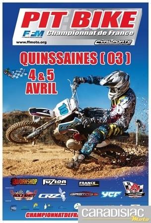 Championnat de France Pit Bike 2010: début de saison les 4 et 5 avril à Quinssaines.