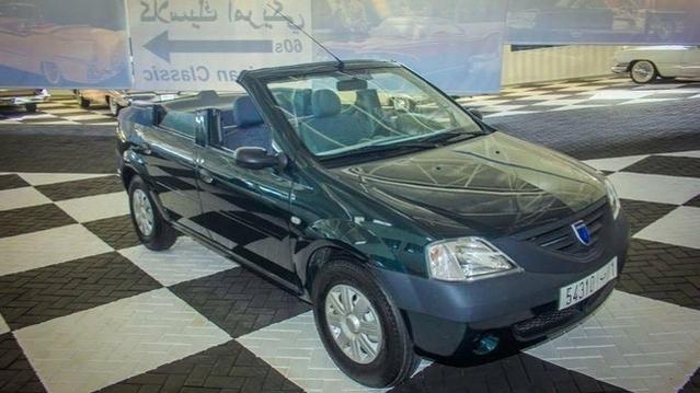 Une Dacia Logan cabriolet à découvrir au musée automobile de Rabat