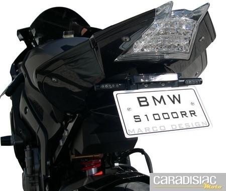 Support de plaque Marco Design pour la BMW S1000 RR… pour un arrière encore plus racing.