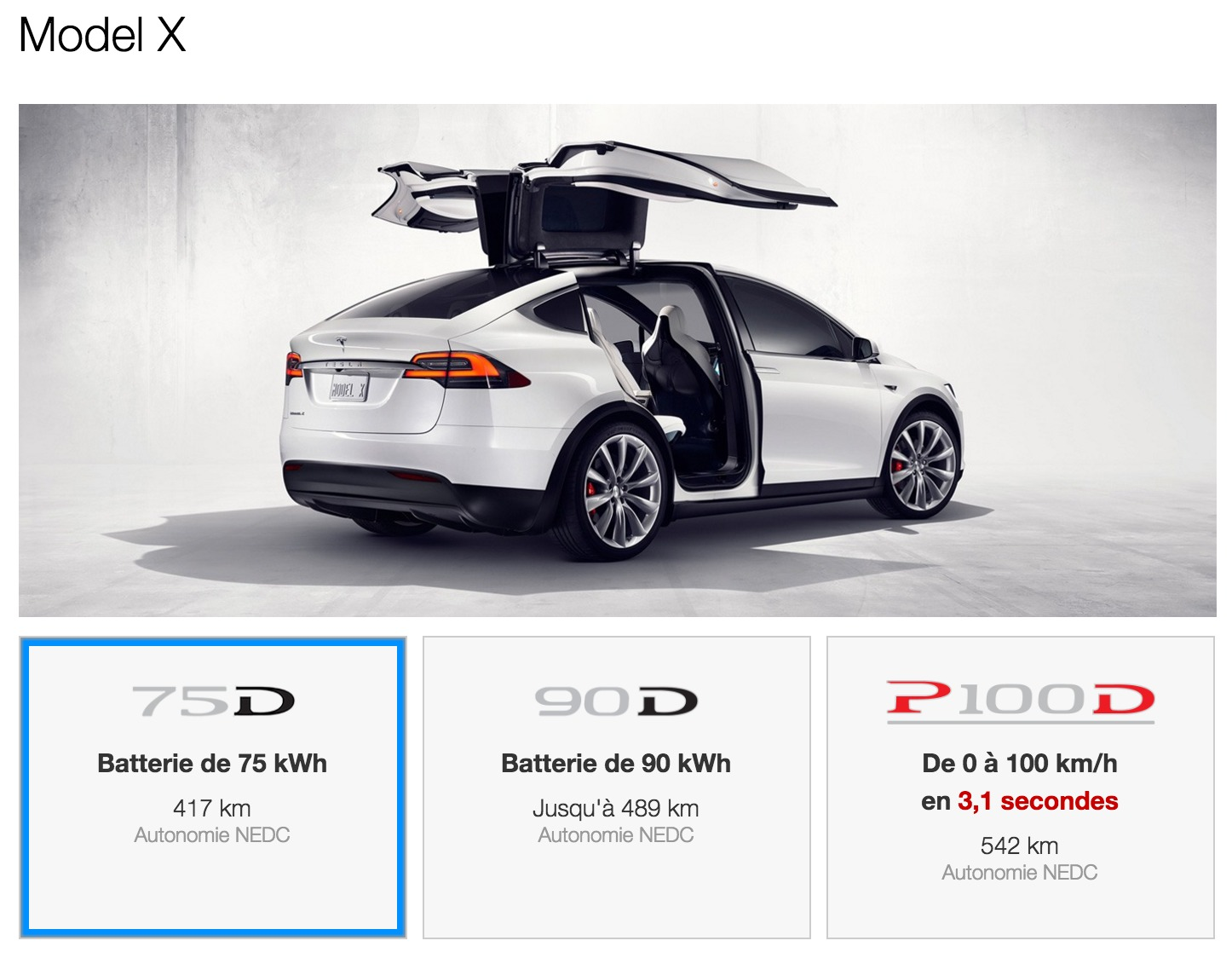 le tesla model x 60d d j retir du catalogue. Black Bedroom Furniture Sets. Home Design Ideas