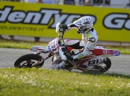 Supermotard, championnat d'Italie 2012, round 1: Hermunen empoche la mise