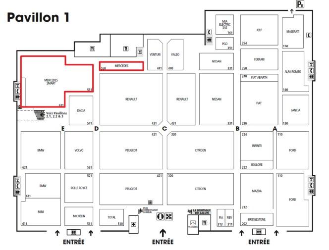 Guide des stands Mondial 2012 : le stand Mercedes chargé en nouveautés